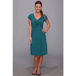 Horny Toad Empirical Dress in Deep Blue Green